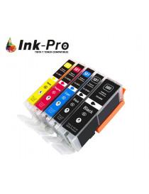 INKJET INPRO CANON CLI581XXL NEGRO 6360 PAG. PREMIUM
