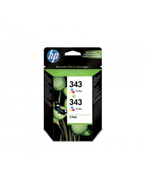 HP 343 TRICOLOR MULTIPACK ORIGINAL 2 CARTUCHOS DE TINTA CB332EE