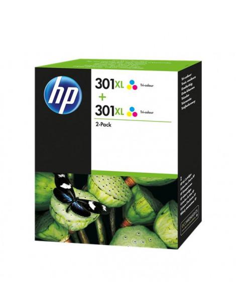HP 301XL TRICOLOR MULTIPACK ORIGINAL 2 CARTUCHOS DE TINTA D8J46AE